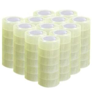 72 Rolls 1 9 X 110 Yards 330 Ft Box Carton Sealing Packing Package Tape Clear
