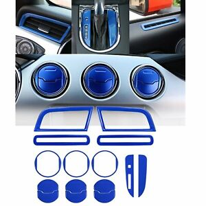 Ford Mustang Interior Accessories Decoration Console Central Cover blue 15pcs