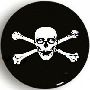 15 Pirate Bone Skull Spare Tire Wheel Cover For Jeep Rv Truck Suv Camper New