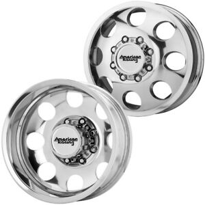 Set Of 4 16 Inch American Racing Ar204 Baja Dually 8x6 5 Polished Wheels Rims