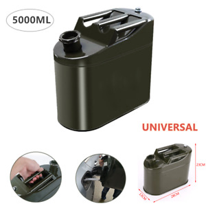 1 Universal Motorcycle Car Spare Portable Fuel Tank Petrol Oil Container Can 5l