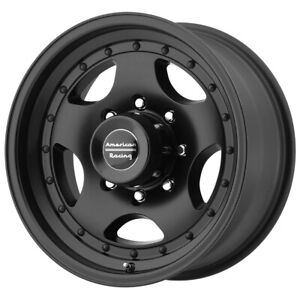4 american Racing Ar23 16x8 6x5 5 0mm Satin Black Wheels Rims 16 Inch