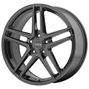 4 american Racing Ar907 16x7 5x112 40mm Gloss Black Wheels Rims 16 Inch