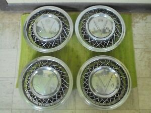 1953 Buick Accessory Wire Spoke Hub Caps 15 Set Of 4 Wheel Covers 53 Hubcaps V8