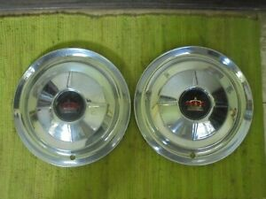 1954 Chrysler Imperial Hub Caps 15 Set Of 2 Wheel Covers Hubcaps 54