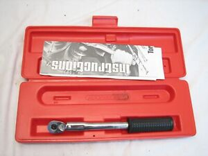 Snap on Torque Wrench Click Type Preset Ratchet 3 8 Drive Qpr217a W case