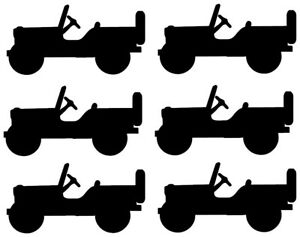 Willys Jeep Vinyl Decal Sticker X6 75 High X 1 5 Long Inches