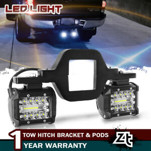 4 Tow Hitch Mounting Bracket Back Up Reverse Led Light Bar For Ford F150 250