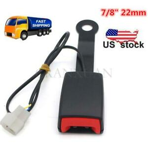 Universal Auto Car Seat Belt Buckle Socket Plug Connector W Warning Cable 7 8