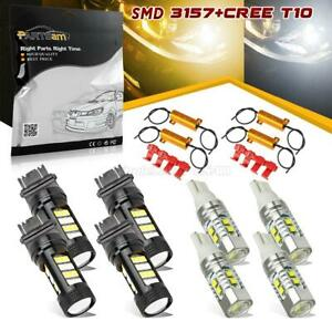 4x Amber White Switchback Led Turn Signal Parking Bulbs 3157 3357 259 resistor