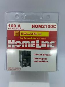 Square D Homeline Hom2100c 100 amp Two pole Circuit Breaker