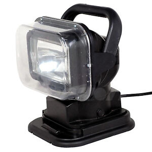 55w 12v Xenon Hid Search Work Light Remote Rotating Magnetic Base Control