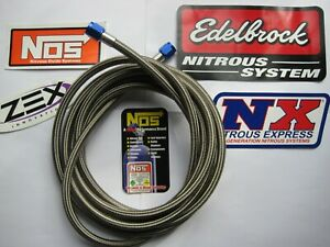 Want To Win New Nos Holley Bigshot 6an 16ft Nitrous Line Hose Nx Zex Edelbrock