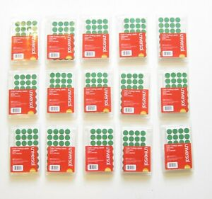 15 000 Green Color Coding Labels Sticker Dots Inventory Code Yard Sale 3 4 Size