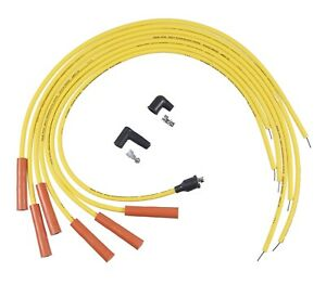 Accel 4021acc Universal Fit Spark Plug Wire Set Yellow 8mm Spiral Core
