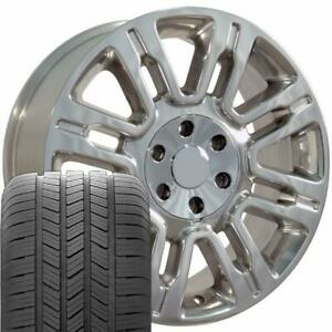 20x8 5 Polished Expedition Style Wheels Goodyear Tires 20 Rims Fit Ford Oew