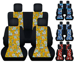 Front Rear Hibiscus Flower Palm Tree Car Seat Covers Fits 98 2018 Vw Beetle