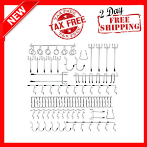 81pcs Pegboard Hooks Assortment Heavy Duty Peg Hook Organization Wall Storage