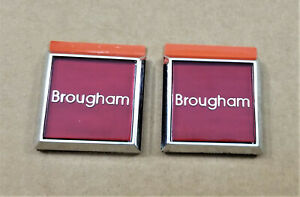 Nos 1985 90 Oldsmobile Brougham Fender Emblems Oem 2 Pieces