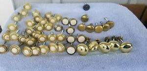 Lot Of 48 Brass Antique Vintage Assorted Drawer Pulls Cabinet Knobs Salvage