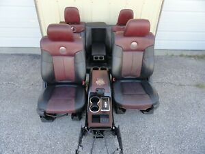 Ford F150 Harley davidson Seat Set Front Rear Console 09 10 11 12 13 14 Heated