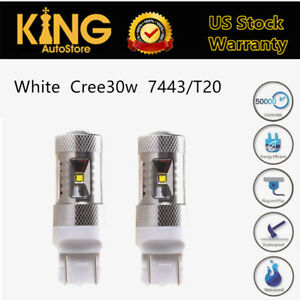 Us 7443 T20 Bulbs White Car 30w Canbus Car Led Turn Signal Light Tail Stop Lamps