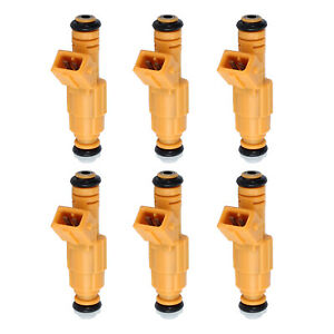 6x Bosch Fuel Injectors For Jeep 87 98 4 0l Oem 0280155710 0280155700 Ev1 4 Hole