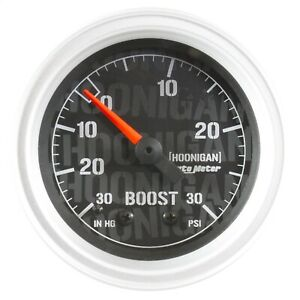 Autometer 4303 09000 Hoonigan Mechanical Vacuum Boost Gauge 2 1 16