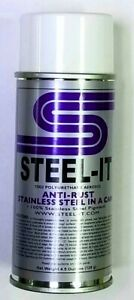4 5oz Steel It Stainless Steel Pigmented Aerosol Paint Spray Can Grey Steel It