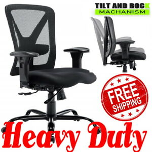 500 Lb Heavy Duty High Back Big And Tall Desk Executive Ergonomic Leather Chair