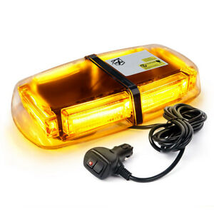 Xprite 60w Cob Led Strobe Light Amber Flashing Emergency Warning Hazard 12v Jeep