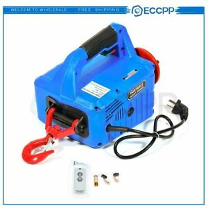 With Wireless Remote 110v 500 Kg X 7 6 M Portable Household Electric Hoist Winch