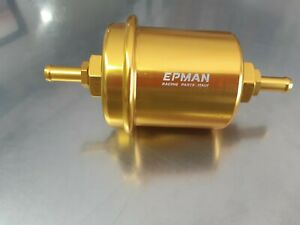 Universal Gold Epman Sport High Flow Washable In Line Fuel Filter
