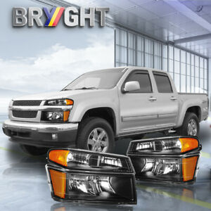 Headlight Assembly For 2004 2012 Chevy Colorado Canyon Headlights Corner Lights