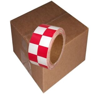 Checkerboard Vinyl Tape 2 X 36 Yard Roll Red White 24 Roll case