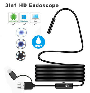 7mm Android Endoscope Snake Inspection Camera For Lg Samsung S10 S9 S8 S7 S6 S5