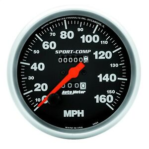 Autometer 3995 Sport Comp In Dash Mechanical Speedometer 5 160 Mph