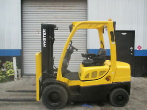 06 Hyster H50ft 5000lbs Lpg Forklift Solid Pneumatic Tires 189 Ht W Side Shift