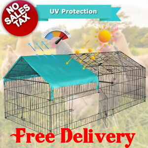 Large Chicken Coop Cage Pens Crate Rabbit Enclosure Pet Playpen Exercise Pen