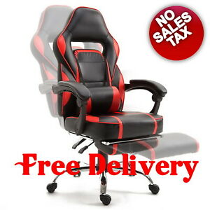 Heavy Duty Gaming Chair Recliner Footrest Ergonomic High Back Big And Tall Desk