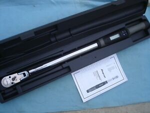 Snap On 1 2 Electronic Torque Wrench atech3fr250 12 5 250ft lb W case X lnt