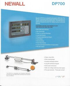 Newall 2 Axis Digital Readout Dp700 Mill Package 12 X 32 Dr0 Kit Dp7001232km