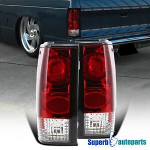 For 1982 1993 Chevy S10 1983 1990 Gmc S15 Sonoma Replacement Tail Lights Red