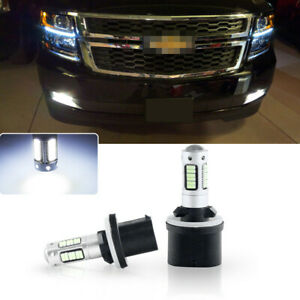 2pcs High Power Bright White 880 Led Fog Lights Bulbs For Chevy Tahoe 2000 2006