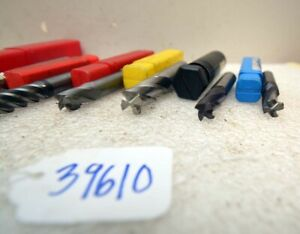 1 Large Lot Of End Mills inv 39610