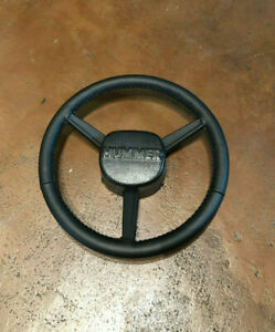 Hummer H1 Humvee Hand stitched Leather Steering Wheel Gray Stitch