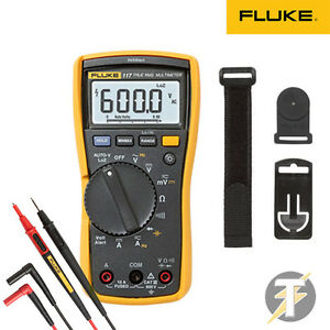 Fluke 117 True rms Digital Multimeter Kit2s W Tl175 Leads And Tpak3 Hanging Kit