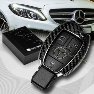 For Mercedes benz C180 200 250 300 Real Carbon Fiber Remote Key Shell Cover Case