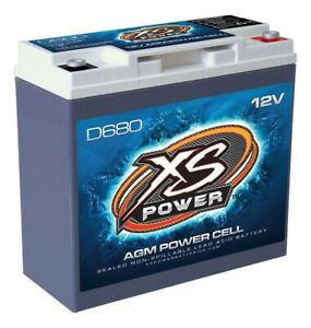 Xs Power Battery 320 Cranking Amps 12 V D Series Agm Battery P N D680