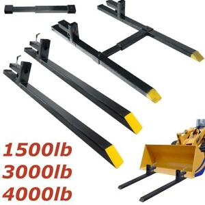 1500lb 3000lb 4000lb 60 Clamp On Pallet Forks Loader Bucket Skidsteer Tractor